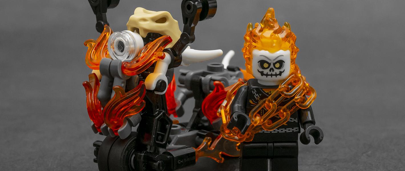 燃烧的小绵羊!恶灵骑士版踏板车MOC