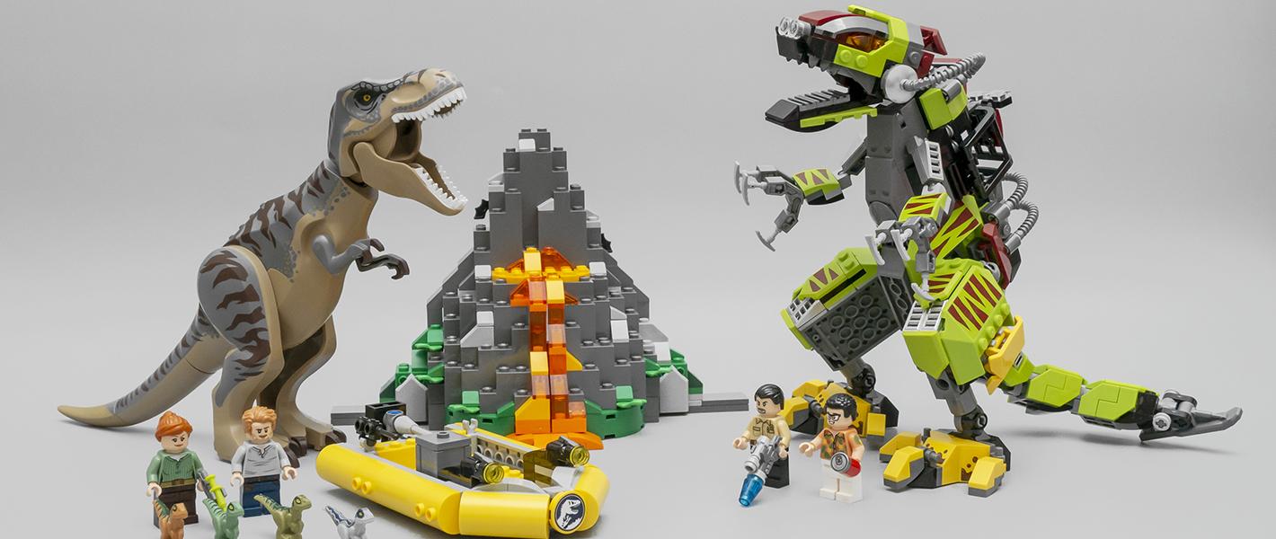 双龙争霸!乐高侏罗纪世界系列 75938 霸王龙大战机甲恐龙